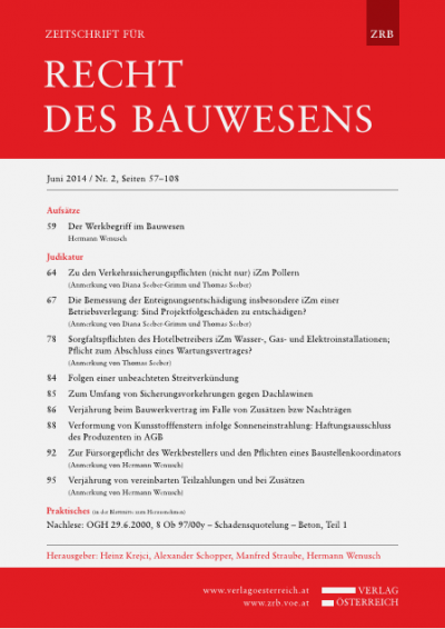 Zeitschrift Fur Recht Des Bauwesens 2014 Band 2014 Heft 2